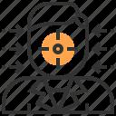 analysis, business, creative, finance, focus, marketing, strategy icon
