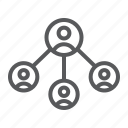 social, group, internet, network, global, business icon