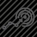 aim, arrow, business, goal, growth, success, target icon