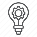 light, idea, development, cogwheel, bulb, cog, business