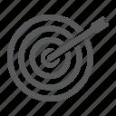 accuracy, business, dartboard, focus, success, target icon