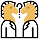 confuse, strategic, question, decisions, horses icon