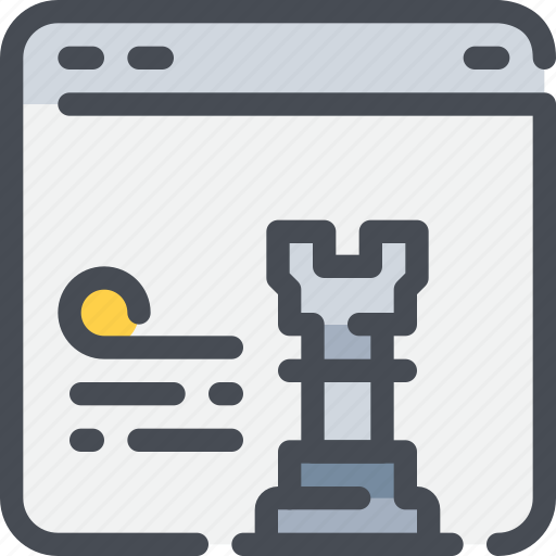 browser, business, planning, strategy, website icon