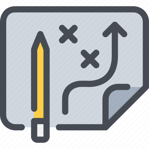 business, pencil, plan, planning, vision icon