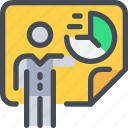 business, data, man, person, planning, presentation, report icon