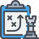 business, clipboard, document, planning, report, strategy icon