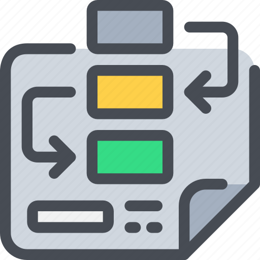arrow, business, chart, plan, planning, strategy icon