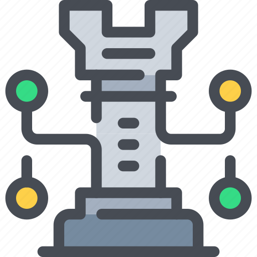 business, connect, network, planning, strategy icon