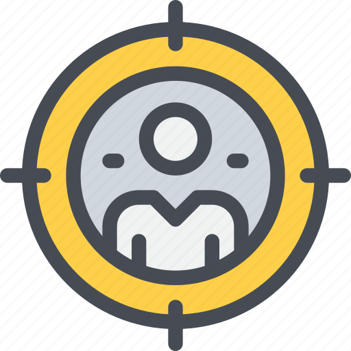 business, man, market, marketing, person, target icon