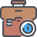 bag, business, case, management, time, timer icon