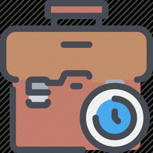 bag, business, case, management, time, timer icon