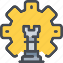 business, gear, planning, process, strategy icon