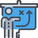 business, man, person, planning, present, presentation icon