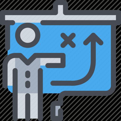 business, man, person, planning, present, presentation icon