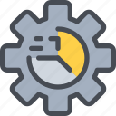 business, data, gear, process, report, seo icon