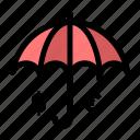 Dollar Euro Insurance Save Umbrella Icon