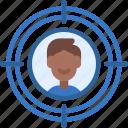 audience, targeting, target, people icon