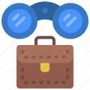 business, opportunities, binoculars, scope icon