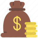 capital, money, bag, cash icon
