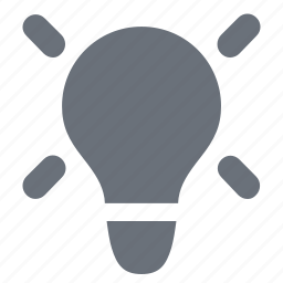 business strategy, energy, idea, light bulb, pika, simple icon