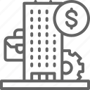 bank, business, businessman, center, financial, institution, partnership icon