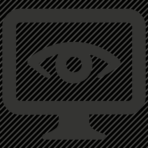 monitoring, seo, supervision icon