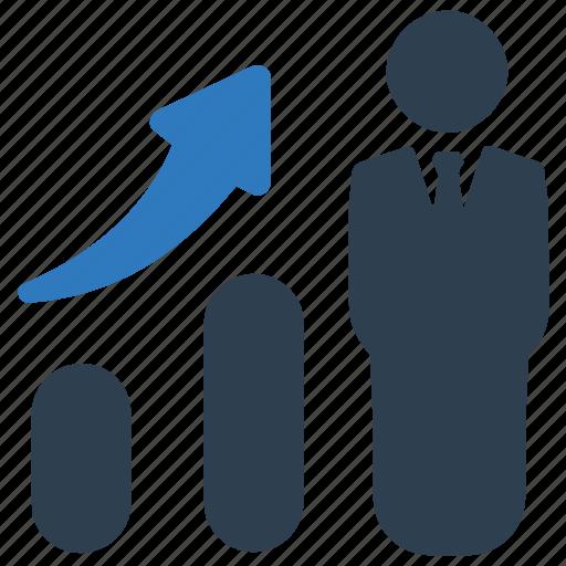 business success, growth, profit icon