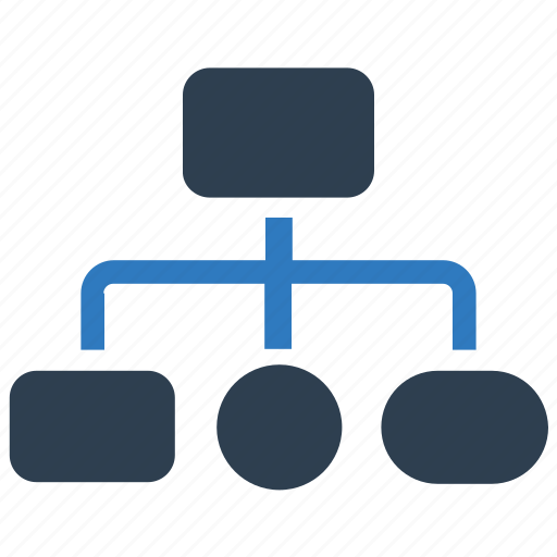 flowchart, hierarchy, sitemap icon