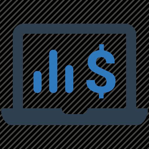 monitoring, report, sales icon