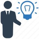 brainstorming, business idea, businessman icon