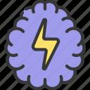 brainstorming, brainstorm, lightening, bolt