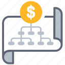 business, chart, layout, money, organize, plan, strategy icon