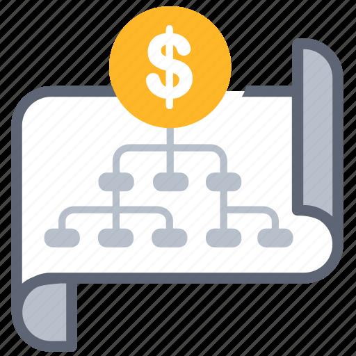 business, chart, layout, money, organize, plan, strategy icon