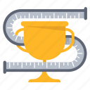 business, gauge, measure, measurement, standard, success, trophy icon