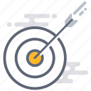 aim, audience, business, goal, marketing, objective, target icon