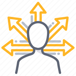 business, chance, decision, direction, opportunity, options, vision icon