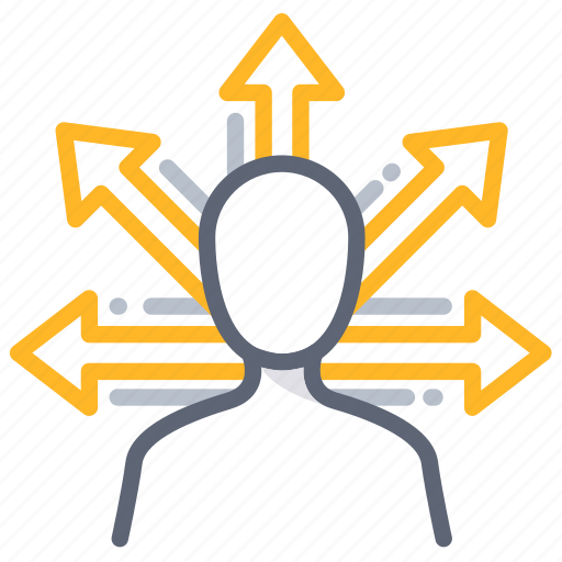 decision, direction, opportunity, options, proactive, vision icon