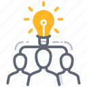brainstorm, business, idea, man, power, team, teamwork icon