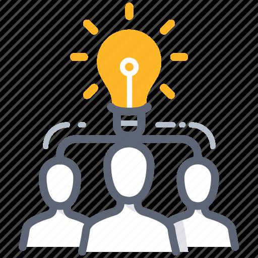 brainstorm, business, idea, man, power, team, teamwork icon
