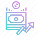 bank, bill, cash, coin, money, profit, revenue icon