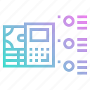 analysis, business, calculator, chart, cost, structure icon