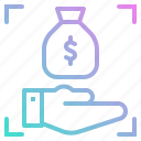bag, bank, banking, business, dollar, focus, money icon