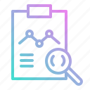 analysis, glass, magnifying, product, research, search, stat, zoom icon