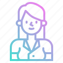 avatar, business, people, secretary, user, woman, worker icon