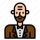 avatar, boss, business, man, people, user, worker icon