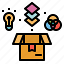cmyk, design, idea, package, print, product, rgb icon