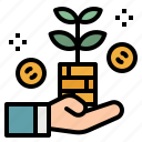 bank, business, coin, growth, investment, money icon
