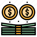 bank, bill, business, coins, commerce, currency, money icon