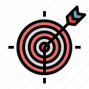 archer, archery, arrow, business, objective, sport, target icon