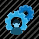 cogwheel, control, gear, mechanic, setting, technician, tools